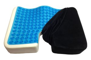 a picture of a sciatica cushion with gel memory foam